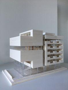 Lego Architecture, Lego Architecture Studio, Harm Bron, Amsterdam Maquette Architecture, Lego Architecture, Studios Architecture, Futuristic Architecture, Architecture Models, Building Art, Building Exterior, Cubes, Legos