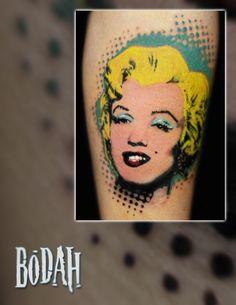 Andy Warhol pop art Marilyn Monroe tattoo