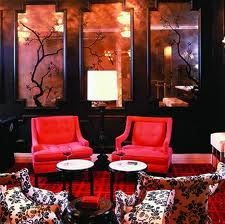 Beverly Hills Dining: Gourmet Breakfast and a Distinctive Beverly Hills Bar, Bar Noir Commercial Interior Design, Commercial Interiors, Beautiful Interiors, Colorful Interiors, Beverly Hills, Bar Noir, Interior Color Schemes, Kelly Wearstler, Love Home