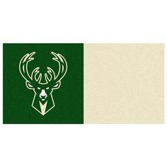 Milwaukee Bucks NBA Carpet Tiles (18x18 tiles)