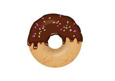 Chocolate Sprinkles Donut Vector Illustration Donut Logo, Donut Vector, 7 Sins, Sprinkle Donut, Chocolate Sprinkles, Free Vector Graphics, Aesthetic Stickers, Food Illustrations, 2nd Birthday