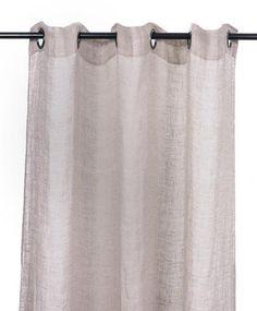Harmony - Rideaux en voile de lin lavé Porto Vecchio - Rose Poudre - 120x280 cm - Home Beddings and Curtains