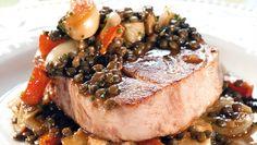 Langtidsstekt svinenakke - NytNorge Crockpot Recipes, Steak, Good Food, Pork, Crock Pot, Kale Stir Fry, Slow Cooker, Steaks, Crockpot