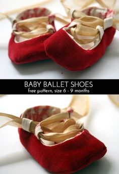 Baby Ballet Shoes Tutorial