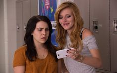 """Mae Whitman (left), with Bella Thorne, is the uncool girl who feels scorned in """"The DUFF."""" Photo: Guy D Alema / Guy D. Mae Whitman, Teenage Movie, Teen Movies, Movie Tv, Nicholas Sparks, The Duff Movie, Fat Friend, Good Comedy Movies, When Your Best Friend"""