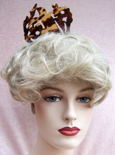 Hair comb, Victorian pre-ban tortoiseshell figural bird 20 percent off
