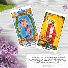 Tarot Significado, Tarot Card Meanings, Tarot Cards, Reiki, Spirituality, Crystals, The World, Spiritual, Tarot