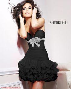 Rochie Sherri Hill Perfection Black #magazindefashion