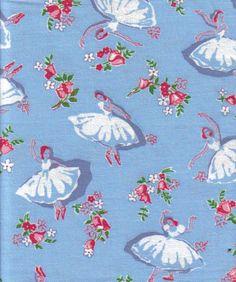 Dance the night away- vintage feedsack fabric