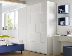 Armoire design damier blanc NATHEO 5 Armoire Design, Wardrobe Design Bedroom, False Ceiling Design, Stylish Bedroom, Room Decor, Interior Design, Wardrobe Doors, Furniture, Clothes