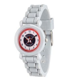 3a8a679580c EWatchFactory Gametime Mlb Houston Astros Kids  Gray Plastic Time Teacher  Watch