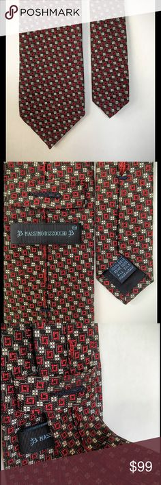 MASSIMO BIZZOCCHI men's silk tie, made in Italy Another superbly made tie, very hefty, by Massimo Bizzocchi. massimo bizzocchi Accessories Ties