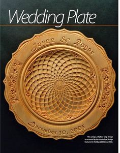 Chip Carved Wedding Plate - Wood Carving Patterns - Wood Carving