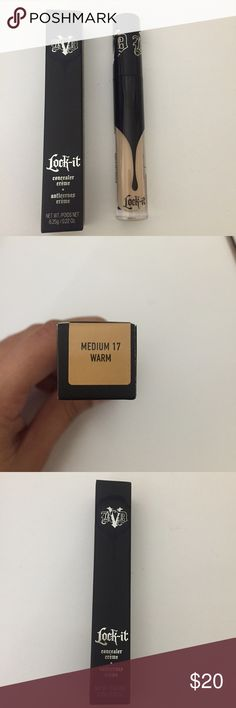 Kat Von D Lock it Concealer Creme This is a new Kat Von D lock it concealer creme in the shade M17 (medium warm, read last photo). NEW. Never used. Great concealer. The wand is great and the consistency is creamy and glides on smoothly, especially with a beauty blender. For ref. I am the shade M25 (and NW25 in Mac). This shade is slighter lighter. NO TRADES! Kat Von D Makeup Concealer