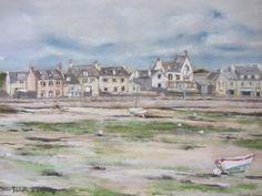 Port d'Argenton - Landunvez - Pastel Sec - 30x40 cm - Isabelle Douzamy - www.douzamy.com