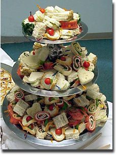 Tea Sandwiches at Wedding Reception