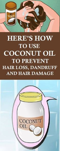 Hair loss is a problem for millions of people in the world. It usually is caused by fungal infections, inflammatory skin conditions or nutritional deficiencies. Coconut oil is a great solution for this condition since it contains healthy fats which are great for your hair and scalp..