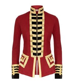 Denim & Supply Ralph Lauren Jersey Military Jacket available to buy at Harrods. Shop women's designer fashion online and earn Rewards points. ~ WOW!!! LOVE, even though I am not really a red person