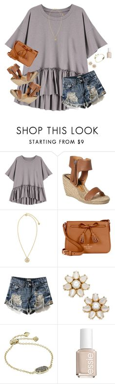 """""""We are so close! Please help get my last set to 30 likes!"""" by moseleym ❤ liked on Polyvore featuring Dolce Vita, Versace, Kate Spade, Kendra Scott and Essie"""