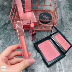 Nars Cosmetics, beautiful lipstick and powder blush