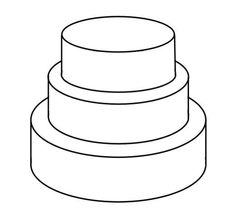 3 Tier Square Cake Template Templates Pinterest And Cakes