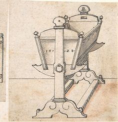 The model for Matthew and Jack's cradles for the babies. Perspectival Drawing of a Cradle