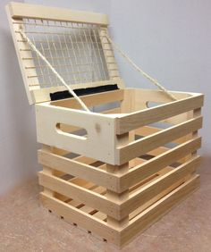 Rustic wood picnic basket with crate rope and hinged lid. Would be an awesome retail display or cool addition to a room. Could be stained or custom etched. http://jbrothersandcompany.com/