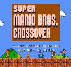 With this awesome Flash game you can play the original Super Mario Bros. for the NES as Mega Man, Samus, Link, Simon Belmont, and other classic NES characters with all their original moves and powers. It's pretty great!