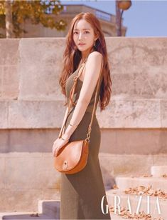 """After the success of her tvN drama """"What's Wrong With Secretary Kim?"""", Park Min Young was so exhausted that she didn't really wake up until she was on the plane to Paris for… Korean Actresses, Korean Actors, Korean Girl, Asian Girl, Korean Photoshoot, Park Min Young, Kdrama, Lucky Ladies, Korean Celebrities"""