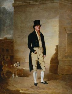 Portrait of James Belcher, Bare Knuckle Champion of England, c.1803, by Benjamin Marshal (1768-1835). Must have been a very hard man, but looks very elegant, despite his profession - good example of early 19th century dress for english men.