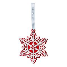 Wedgwood Neoclassical Snowflake Christmas Ornament, Red ** Check this awesome product by going to the link at the image. (This is an affiliate link)