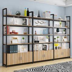 Bookshelves In Living Room, Living Room Cabinets, Wall Bookshelves, Bookcase, Retail Shelving, Modern Shelving, Bookshelf Storage, Display Shelves, Regal Display