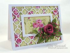 Quatrefoil Framed Rose by kittie747 - Cards and Paper Crafts at Splitcoaststampers