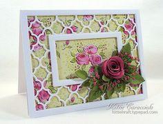 Quatrefoil Framed Rose