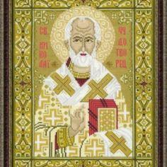 I checked out  Kit Point de Croix compté Counted Cross stitch kit Icône Saint Nicolas Riolis on Lish, € 41,40