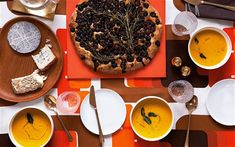 Autumn entertaining - Autumn entertaining Diana Henry food recipes roast pumpkin soup, tuscan bread grapes, austrian poppy seed and walnut cake, cheese, etc.