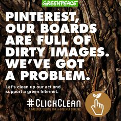 Ask Pinterest to #clickclean and commit to 100% renewable energy for their data centers  http://www.greenpeace.org/usa/clickclean/