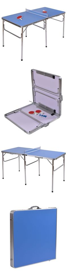 Sets 158955: W 60 Portable Table Tennis Ping Pong Folding Desk Indoor Game Racket Ball Set BUY IT NOW ONLY: $72.48