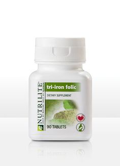 NUTRILITE® Tri-Iron Folic     Tri-Iron Folic lets women and men tailor their iron consumption. Iron is especially important for women who are in their childbearing years or pregnant, and for some men.