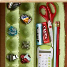 Egg carton drawer organizer from bhg.com