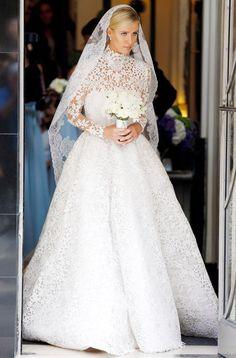 Nicky Hilton abito da sposa Valentino