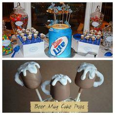 Beer Mug Cake Pops by CakePopsByKiki, via Flickr