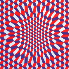 Victor Vasarely ~ I'm sure there are quilters out there who are gifted enough to base a gorgeous looking quilt on this dynamic geometric graphic design. Victor Vasarely, Op Art, Grafik Art, Cool Optical Illusions, Motif Art Deco, Kinetic Art, Illusion Art, Pattern Illustration, Art Plastique