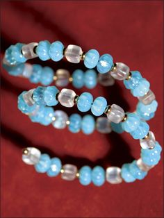 These are really easy to make and very pretty.  The best part is that women with large wrists can have something pretty to wear without fear that it won't fit.