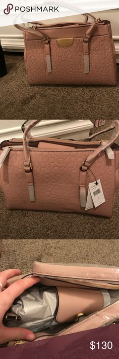 Calvin Klein bag Brand new, just found like 5 more bags in a storage unit, i am moving to europe they neeeeed to go, the color is a pale dark pink Calvin Klein Bags