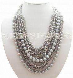 collier de perles collier bavoir collier de par audreyjewelry, $48.00