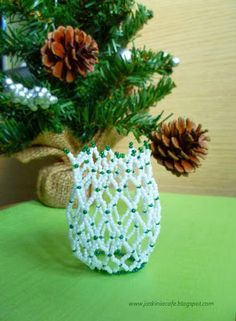 Beaded net - for the round glass ball