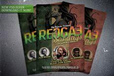 Reggae Sundays flyer template. Get it here: http://graphicriver.net/item/reggae-sundays-flyer-template/7813856?WT.ac=portfolio&WT.z_author=FlipNGecko
