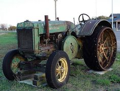 Antique Farm Machinery Collection On US 31 - West Olive, Michigan - Antique John Deere Tractor, via Flickr.
