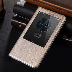 Llévalo por solo $43,800.Fabitoo Diseño del soporte de la PU y Caso Material de la cubierta PC para Huawei mate 7.